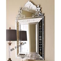 Quality Fashionable Venetian Wall Mirror Decor 70 * 115cm Size Silver Color for sale