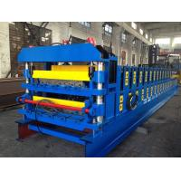18 Forming Stations Double Layer Roof Tile Roll Forming Machine For Metal Roof Wall Panels Export Russia Manufactures