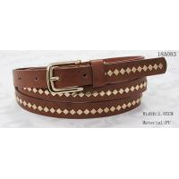 Polished Patterns Womens Fashion Belts With Gold Buckle And Square Metal Studs 1.85cm Width Manufactures