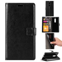 Soft Black Color Slim Crazy Horse Leather Cases Wallet Inside For Nokia 8 Manufactures