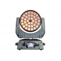 36*10W RGBW 4 In1 LED Wash Moving Head Zoom Light With Electronic Focusing Manufactures