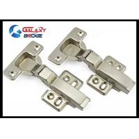 Stainless Steel Furniture Fittings Hardware , Soft Close Half Overlay Cabinet Hinges Hydralic Door Hinges Manufactures