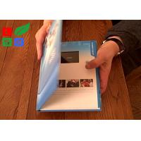 Rechargable LCD Video Greeting Card 128M Memory Motion Sensor Video Promotion Book Manufactures
