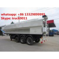 CLW brand 3 axles 55m3 poultry animal Feed Trailer for sale, China best price farm-oriented poutry feed semitrailer Manufactures