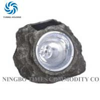 Outside Resin Decorative Stone Solar Lights / Rock Shaped Solar Lights For Landscape Manufactures