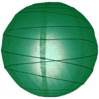 Easter Day Green Paper Lanterns / Round Paper Lanterns With Customer'S Logo Manufactures