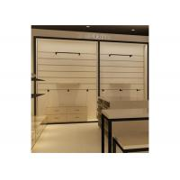Height 240CM  Wall Mounted Display Cabinets With Wood Shelf Metal Hanging Bar Manufactures