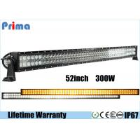 China 52 Inch 300W Wireless Remote Control Led Light Bars 27000lm Lumen Amber White on sale
