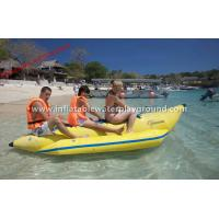 Outdoor 3 Person Water Sports Inflatable Banana Boat Towable For Lake / Sea Manufactures