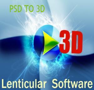 PSDTO3D 3d design software flip lenticular software for lenticular printing Manufactures