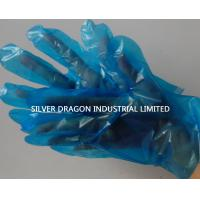 Disposable gloves,  Embossed, Blue color, Size S,M,L Manufactures
