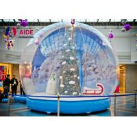 PVC cloth Airblown Snow Globe Inflatable Holiday Decor with Santa Tree print Manufactures