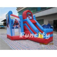 Spiderman Size 7.5*4.5*4M 0.55mm PVC Tarpaulin Inflatable Water Trampoline Combo Bouncer Manufactures