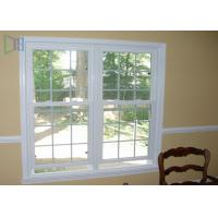 Heat Insulation Vertical Opening Windows , Double Hung Replacement Windows Manufactures