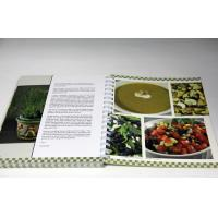 Customized Professional CookBook Printing A4 UV Coating , Eco-friendly Manufactures