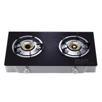 Quality 2 Burner Table Top Gas Stove , Two Burner Gas Cooktop With Tempered Glass Panel for sale