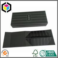 Collapsible Gift Packaging Box; Matte Laminated Black Color Print Paper Gift Box Manufactures