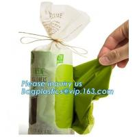 China Compostable Caddy Liners plastic Garbage Bag on Roll, biodegradable compostable garbage bag for construction wastes on sale