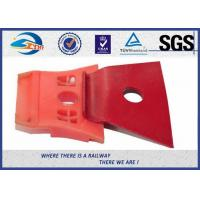 Red Painting Nabla Railway Metal Spring Clips Steel 3 Million Times Fatigue Test Manufactures