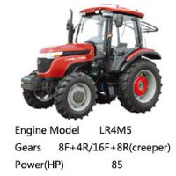 China Taishan Wheel Tractor Mountain-Tai Ts850/Ts854 EURO 2, 4*4 4*2, 85HP on sale