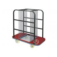 10 Compartments Glass Turntable Transport Trolley 6 Inches Polyester Casters / Banquet Equipment Manufactures