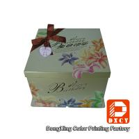 Embossing 12 Inch Cake Packaging Boxes Biodegradable Delicate Bow Tie Design Manufactures