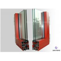 China Extruded Aluminium Window Extrusion Profiles Customized Color Two Layers Glass on sale