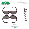 Logo 24g weight games Reald 3D Glasses PC Frame TAC 0.72 Mm Lens Manufactures