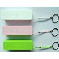 Plastic 2400mAh Portable USB Power Bank For Cell Phone In Green / Pink Manufactures