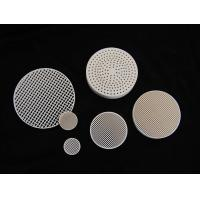 Custom Round Anti-acid / alkali 2MgO + 2Al2O3 + 5SiO2 Industrial Honeycomb Ceramic Plate Manufactures