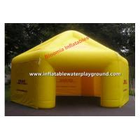 Durable Yellow Advertising Inflatable Party Tent For Event / Trade Show Manufactures