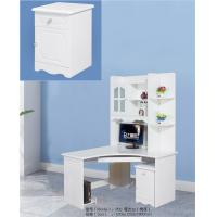 China Matte White Painted MDF Computer Desk , Home Computer Desk With Storage on sale