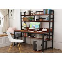 Office desktop laptop computer desk with shelves, Home study writing table with storage shelves Manufactures