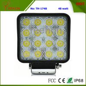 48W Square LED Fog Light, LED Work Light, LED Work Lamp for marine ships, Automotive Manufactures