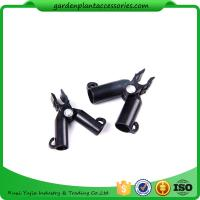 Adjustable Garden Cane Connectors , 16mm Black Bamboo Cane Connectors 50*40*40 Free sample Manufactures