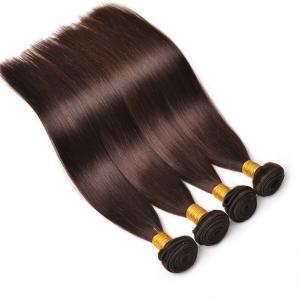 High Quality Dark Brown Cheap Silky Straight Brazilian Hair Weave Manufactures