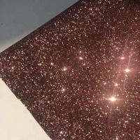 PU Gold Glitter Wallpaper For Walls 0.9±0.15mm Thickness Non Woven Backing Manufactures