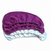 Microfiber Hair Turban with Elastic Loops and Button, Measures 65 x 23cm, Easy to Use Manufactures