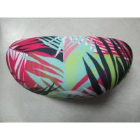 Zebra Cloth Leather Clamshell Eyeglass Case Customised With Golden Foil Printing Manufactures