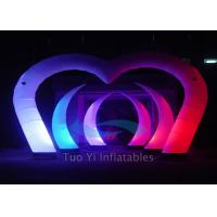 Color Changing LED Light Curved Inflatable Stage Decoration With Sturdy Fabric Manufactures
