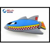 Blue Space Ship Kids Bedroom Furniture Knobs , Silicon Musical Kids Dresser Knobs Soft Plastic Drawer Pulls Manufactures