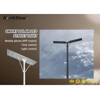High Power Energy Saving All In One Solar Street Light With Controller and Li Battery Manufactures
