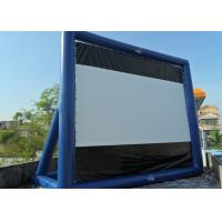 Blue Project Screen Inflatable Movie Screen For Outdoor Use Manufactures