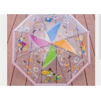 Kids Clear See Through Umbrella , Transparent Compact Umbrella Tree Printing Manufactures