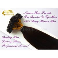 20 Inch Remy Human Hair Extensions 1.0 G Pre Bonded U Tip Hair Extensions For Sale Manufactures