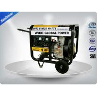 Air Cooled Silent Portable Generator Set 5.5 -6.3 Kva Open Type With Manual  Starter Manufactures