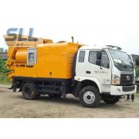 Easy Moving Mobile Trailer Mounted Concrete Pump With Double Shaft Mixer Manufactures