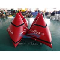 Triangular Inflatable Water Buoy / Swimming Buoy With 0.6mm PVC Tarpaulin Manufactures