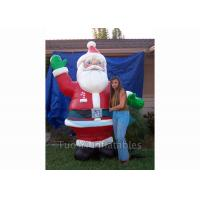 Giant Inflatable Cartoon Characters / Inflatable Santa Claus for Christmas Promotion Manufactures