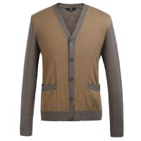 Eco Friendly Fashion mens wool cardigan sweaters for Spring , Autumn Manufactures